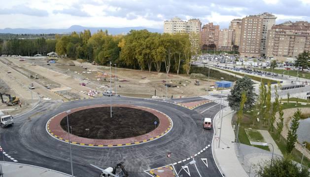 Vista de la nueva rotonda de la avenida de Zaragoza.