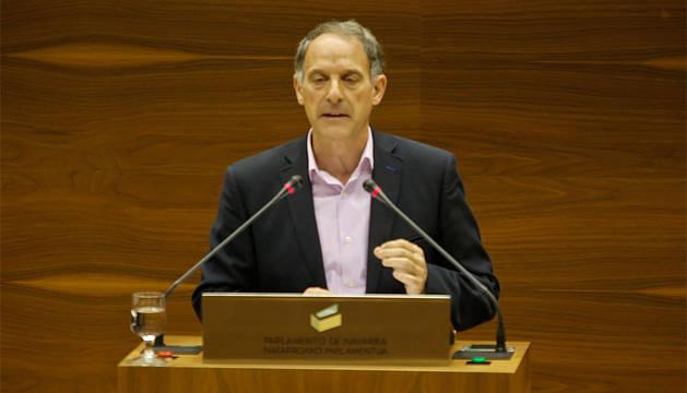 Araiz (EH Bildu), en el Parlamento de Navarra.