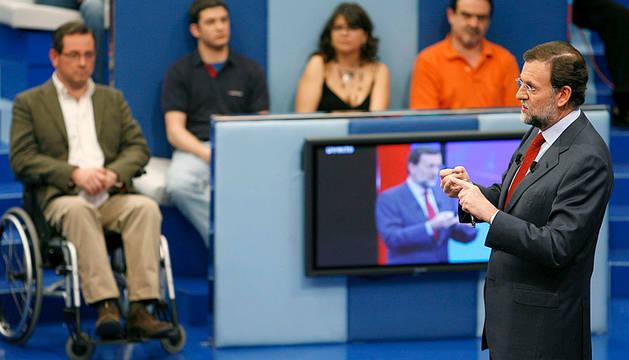Rajoy, en 'Tengo una pregunta para usted' en 2009.