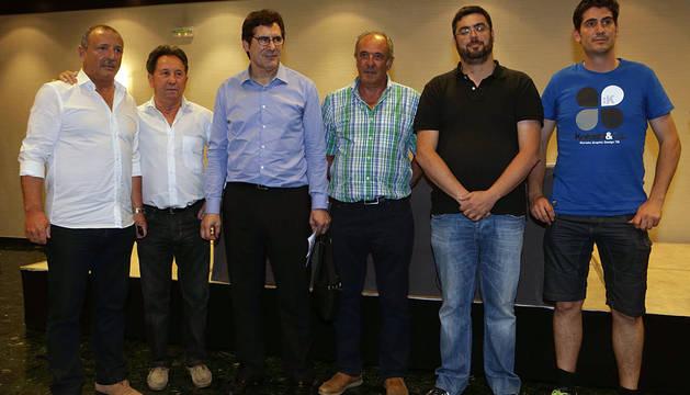 Pedro Zudaire, Jesús Dronda, Javier Zabaleta, Luis Ibero, Ángel Larrea y Marino Zulet.