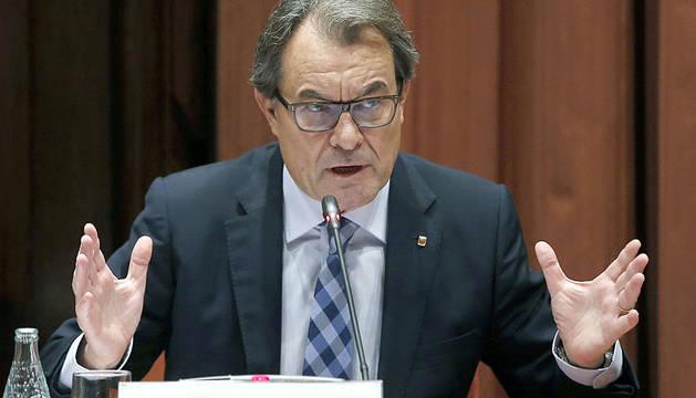 Artur Mas, en el Parlamento catalán.