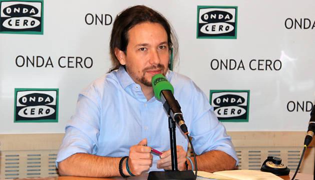 Pablo Iglesias, durante la entrevista en Onda Cero.