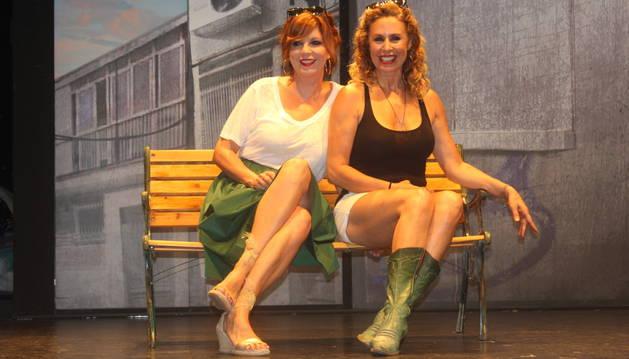 Las actrices Miriam Díaz-Aroca y Belinda Washington.