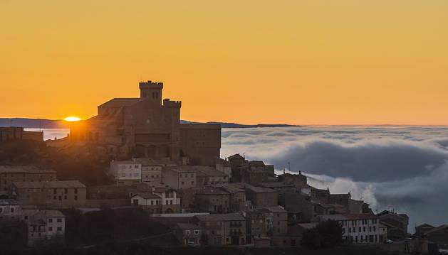 Ujué sobre un mar de nubes, premio popular de la categoría 'Patrimonio'