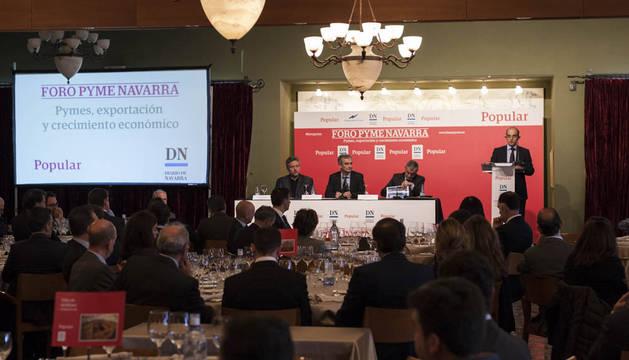 Pablo Fernando Merino, director territorial norte de Popular, en su intervención.