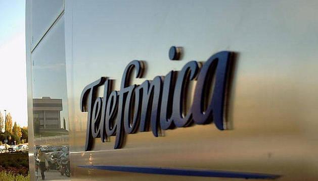 Logo de Telefónica, en Madrid.