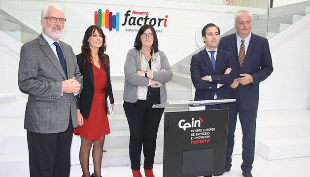 Thomas Bernd Stehling, María Sanz de Galdeano, Pilar Irigoyen, Pablo Zalba y Burkhard Balz.