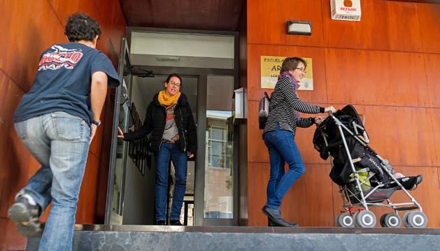 El centro municipal de 0 a 3 años de Arieta, en una imagen tomada el viernes al término de la jornada.
