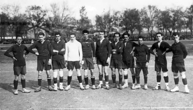 Alineación de Osasuna en la 1920-1921.