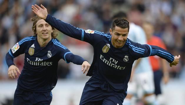 Cristiano celebra su gol.
