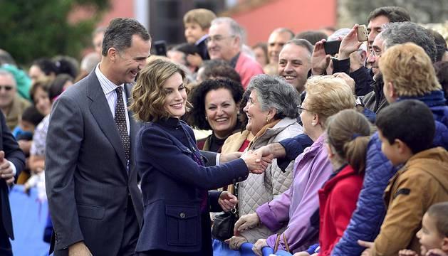 Visita de los Reyes de España a Colombres (Asturias)