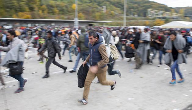 Unos 13.000 refugiados llegan a Eslovenia en poco más de 24 horas