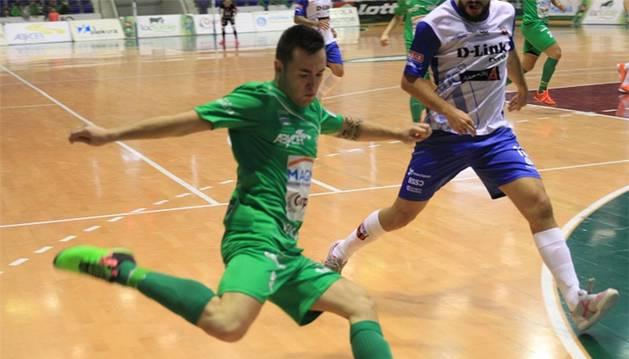 Dani Saldise, contra el Zaragoza.