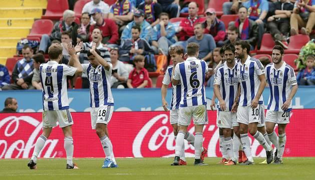 La Real ganó por 0-4 al Levante.