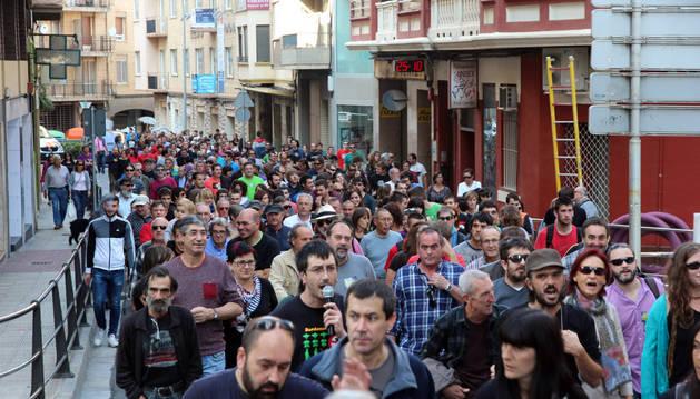 Participantes en la manifestación del domingo en Tudela.