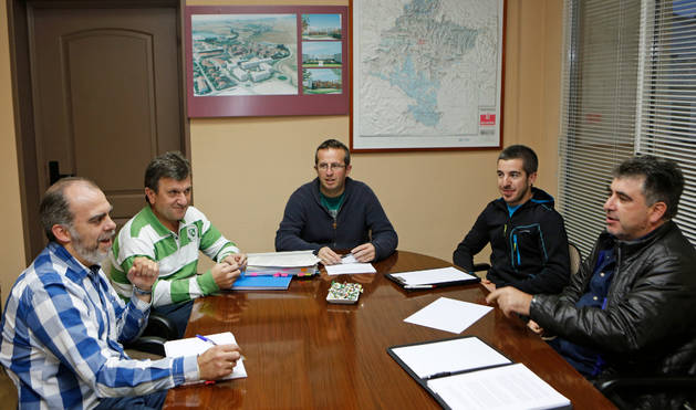 Desde la izquierda: Alberto Ilundáin y José Ignacio Erro (Noáin-V.Elorz), Oscar Ayesa (Beriáin), Diego Sala (Salinas) y Rafael Ruda (Plataforma).