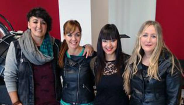 Airam Etxaniz, Joli Pascualena, Naiara Ruiz y Aurora Beltrán.