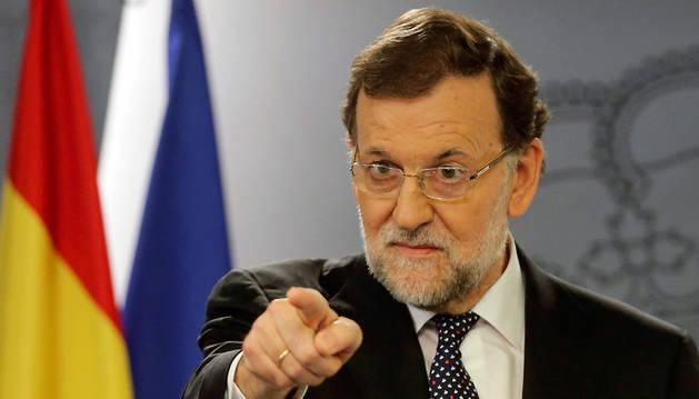 Mariano Rajoy, en la comparecencia de este martes.