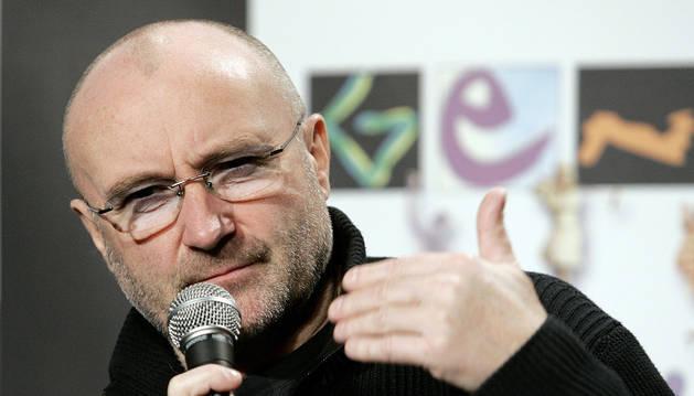 El músico británico Phil Collins.