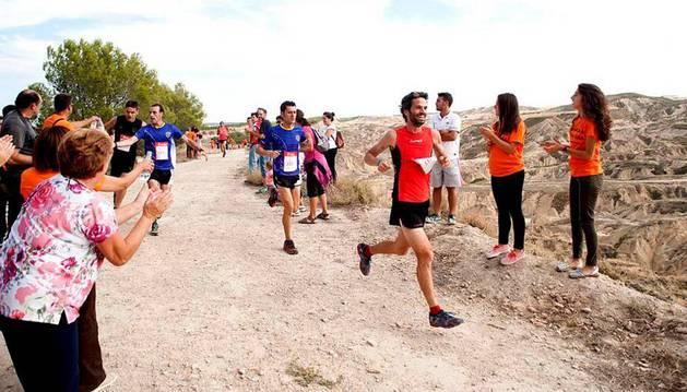 Daniel Aguirre, en el trail de Caparroso.