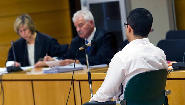 El acusado, Diego Fernando Bonilla, de 27 años, durante el juicio.