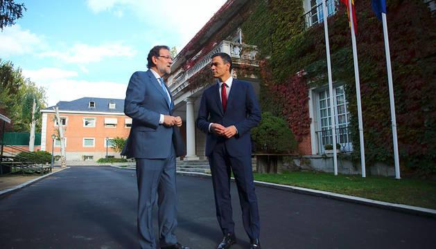 Rajoy y Sánchez, en la Moncloa.