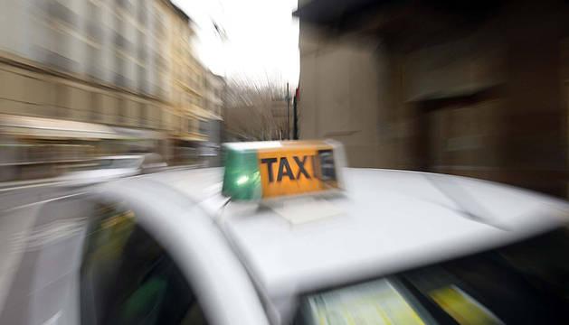 Un taxi, en Pamplona.