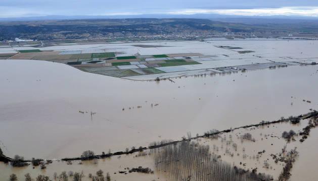 El Gobierno foral apoya las áreas inundables en el Ebro que propone la CHE desde hace años
