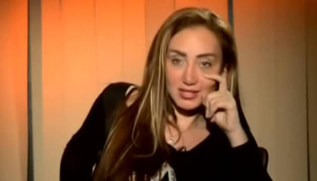 La presentadora Riham Said en uno de sus programas.
