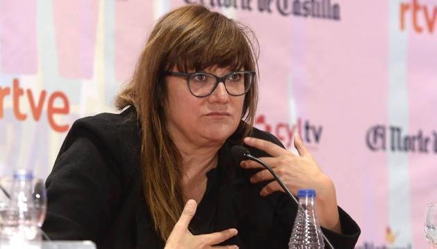 La realizadora Isabel Coixet durante la masterclass en la Seminci.