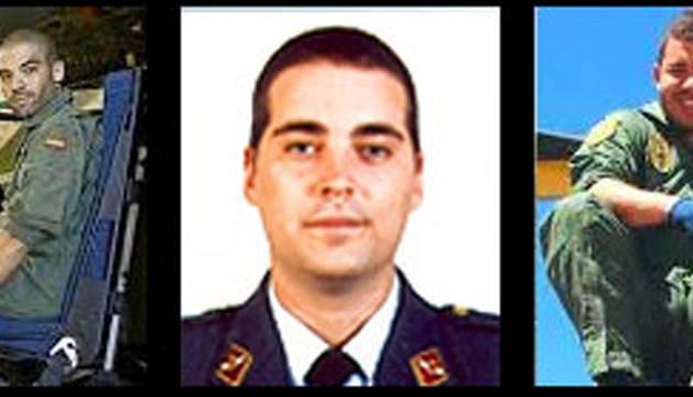 El capitán José Morales Rodríguez; el teniente Saúl López Quesada; y el sargento Jhonander Josué Ojeda Alemán.