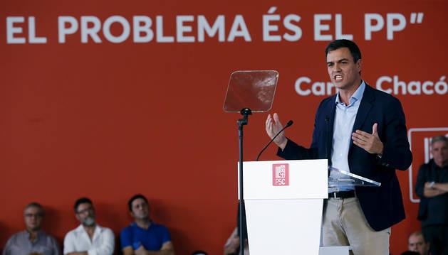 Sánchez pide que no se use Cataluña para