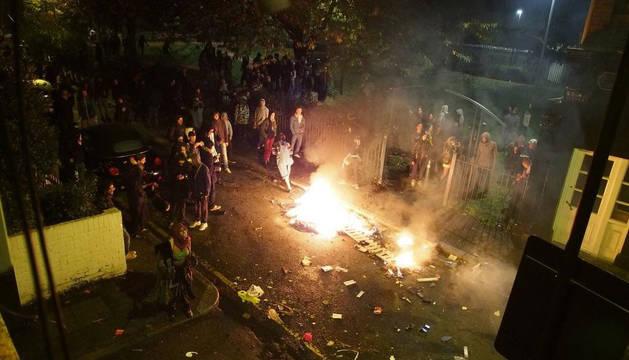 Una imagen de los enfrentamientos en  el distrito de Lambeth.