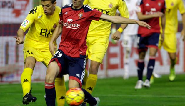 Javi Martínez, en el partido contra el Girona.