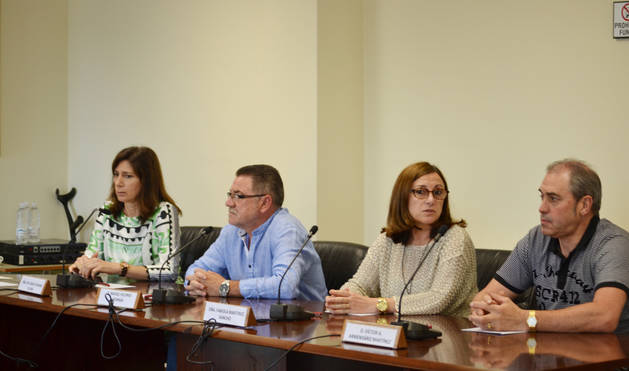 El grupo municipal socialista de Mendavia, en el último pleno.