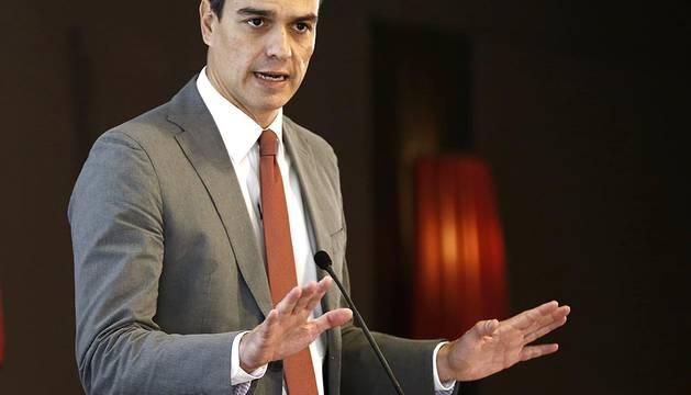 El secretario general del PSOE, Pedro Sánchez, ha visitado este martes Pamplona