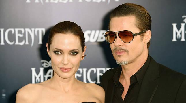 Angelina Jolie y Brad Pitt, en mayo de 2014.