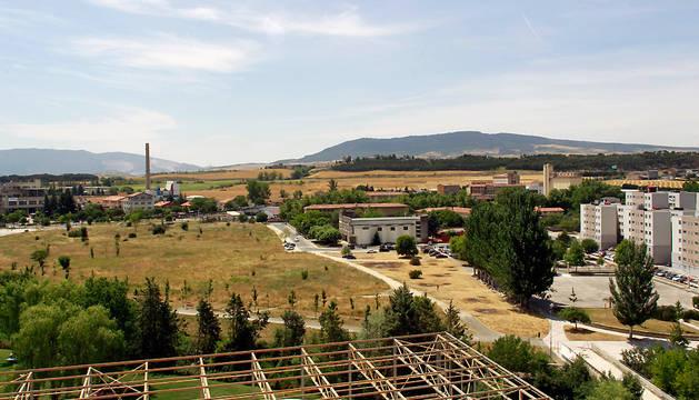 Terrenos en los que está previsto que se ubique la nueva estación del TAV, en Echavacoiz Norte.