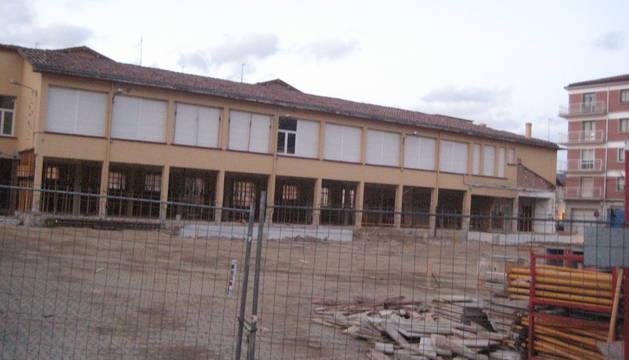 Imagen de archivo del estado anterior en que se encontraban las obras en el antiguo Navarro Villoslada.