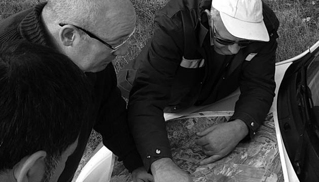 Los técnicos del INTIA iniciaron el lunes los trabajos en Andosilla.