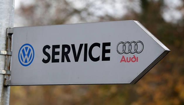 Una señal de concesionario de Volkswagen en Bonn.