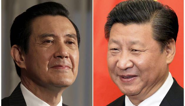 Ma Ying-jeou y Xi Jinping.
