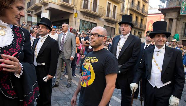 Armando Cuenca, con la camiseta de Spiderman.