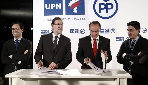 Zalba, Rajoy, Esparza y Arizcuren.