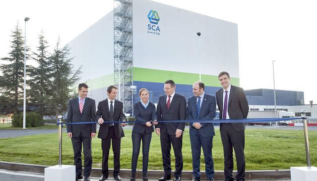 Inauguración de la nueva planta de SCA en Allo.