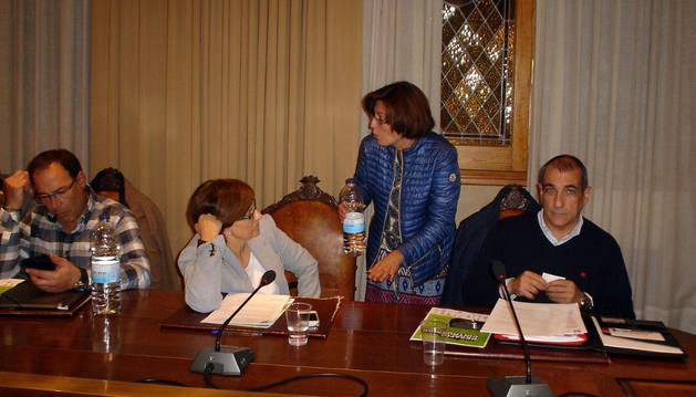 Instante del pleno de Cintruénigo celebrado el miércoles.