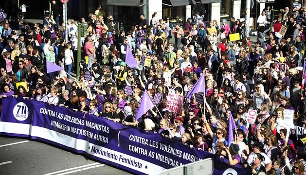Marcha en Madrid contra las violencias machistas