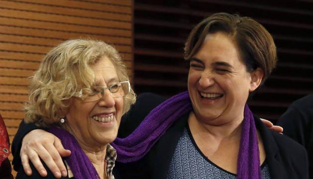 Carmena y Colau piden respuestas ante la violencia machista tolerada