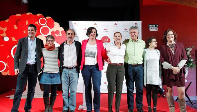 Foto de familia de los candidatos, en la presentación de este este sábado.