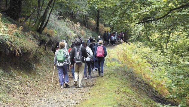 Una de las salidas del grupo a los embalses de Leurtza.